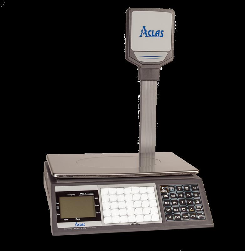 Ценообразуваща електронна везна PS1DP 6/15кг с вертикален дисплей и връзка с компютър/касов апарат