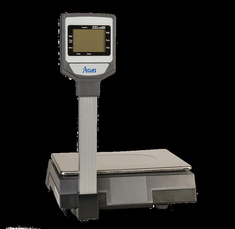 PS1DP 6/15kg Ценообразуваща електронна везна PS1DP 6/15кг с вертикален дисплей и връзка с компютър/касов апарат 1